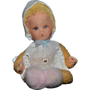 Vintage Doll Cloth Artist Miniature Dollhouse Baby Doll