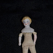 Antique Doll Miniature China Head Dollhouse Doll w/ Headband