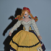 Wonderful Old Cloth Doll W/ Original Tag Layna Character Doll
