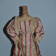 Old Doll Dress Fancy Fashion Doll Lace Detail
