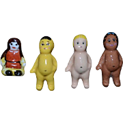 Vintage Doll Artist Dolls Miniature Dollhouse Set FOUR Dolls