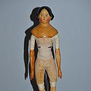 Antique Doll Papier Mache Milliner's Model LARGE Leather Body Wood Arms Wood Legs