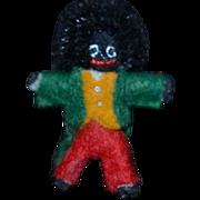 Artist Doll Miniature Dollhouse Black Golliwog Cloth Doll TINY