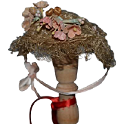 Wonderful Old Doll Hat Ornate for your Fancy Doll