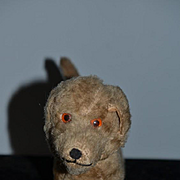 Old Mohair Dog For Doll Toy Sweet Stuffed Animal