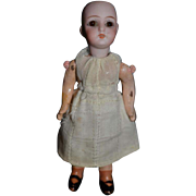Antique Doll Miniature Bisque Dollhouse Glass Eyes Jointed