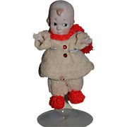 All Bisque Jointed Character Doll All Dressed Side Glancing Eyes Original Clothes?