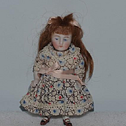 Antique Doll Miniature All Bisque Jointed Dollhouse Sweet