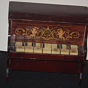 Antique Doll Miniature Piano Schoenhut Works!!! Sweet