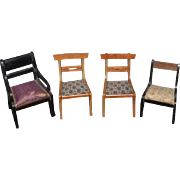 Old Doll Dollhouse Miniature Chairs Sweet