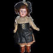 Antique Doll Miniature Bisque Dollhouse Original Clothing