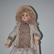 Antique Doll French Bisque BeBe Jumeau Rare E7D Incised Mark Closed Mouth Straight Wrist Douillet