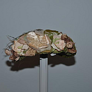Wonderful Doll Hat Fancy Flowers and Feathers