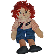 Vintage Raggedy Andy Cloth Doll Button Eyes