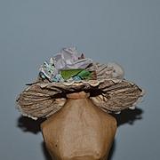 Wonderful Doll Hat Fancy Lace & Flowers Gorgeous