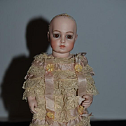 Antique Doll Lace Cape Style Dress WONDERFUL for French Cabinet Size Doll