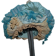 Old Wonderful Fancy Doll Bonnet Hat Lace For your French Doll