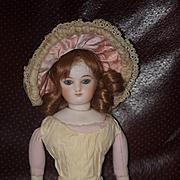 Old Doll Hat Fashion Doll Lace  W/ Bow Ornate Bonnet