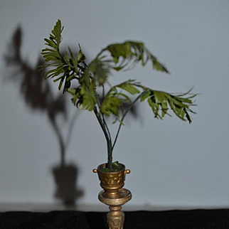 Old Doll Miniature Metal Pedestal For Statue Figurine or Plant Dollhouse