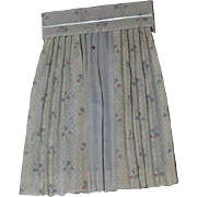 Vintage Dollhouse Curtain Panel Window Treatment With Valance Miniature