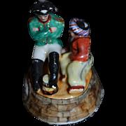 Wonderful Miniature Dollhouse Porcelain Staffordshire Napolion Figurine Statue