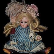 Antique Doll Miniature Black Stockings Simon & Halbig 890 Dollhouse Swivel Neck Mignonette