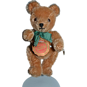 Wonderful Vintage Hermann Teddy Bear Miniature Mohair Jointed W/ Tag Doll Friend