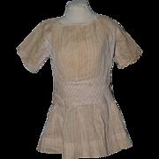Old Doll Dress Drop Waist Pink Pinstripes