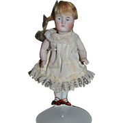 Antique Doll Miniature All Bisque Swivel Neck Dollhouse