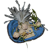 Wonderful Doll Hat Fashion Doll Topper Fancy Feathers flowers Silk