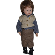 Wonderful Doll Small Size Schoenhut Doll Carved Wood Jointed Petite