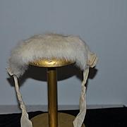 Old Fur Doll Bonnet Hat Sweet