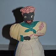 Old Doll Cloth Doll Rag Doll Black Mammy Doll