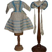 Sweet Doll Dress W/ Matching Hat Bonnet Fancy