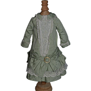 Wonderful Doll Dress Artist Made Sweet W/ Enamel Pin Drop Waist