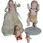 Old Doll Lot Miniature Dollhouse Babies & Kewpie's All Bisque