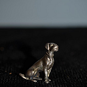 Old Wonderful Miniature Metal Dog Dollhouse Signed VERY Detailed