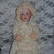 Wonderful Doll Bonnet and Long Fancy Christening Gown W/ Complete Undergarments Gorgeous Hat