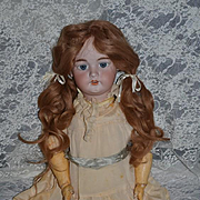 "Antique Doll Simon & Halbig Deb 1079 For French Market Sweet 26"" Tall"