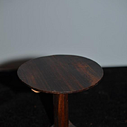 Old Hand Made Tilt Top Table Pedestal Miniature Doll Dollhouse