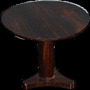 Old Hand Made Tilt Top Table Pedestal Miniature Doll Dollhouse