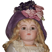 Wonderful Old Hat or Bonnet for your Doll Flowers and Bows