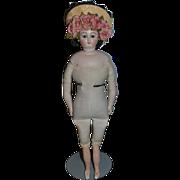 Fancy Doll Hat Bonnet W/ Flowers and bow Velvet back