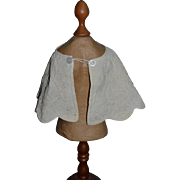 Old Doll Cape Embroidery For Doll Scalloped Edges Sweet