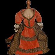 Wonderful Vintage Hand Made Dress Skirt Top Jacket For Fashion Doll China Head Set