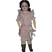 """Antique Doll French Bisque SFBJ Sweet Girl Gorgeous Face 20"""" Tall Dressed"""