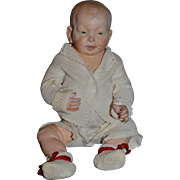 Antique Kaiser Baby Doll Composition 1909 Baby Otto Character Terracotta