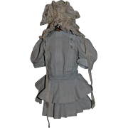 Wonderful Doll Dress and Hat Bonnet Drop Waist Pleated For French Doll Set