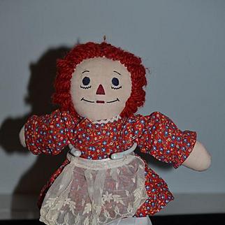 Unusual Raggedy Ann Doll Cloth Doll Wonderful Size