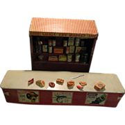 Sale Pending Old Miniature Tin Metal Grocery Store W/ Groceries Doll House